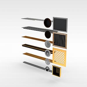 空调口模型3d模型