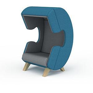 3d創意<font class='myIsRed'>電話</font>形沙發模型