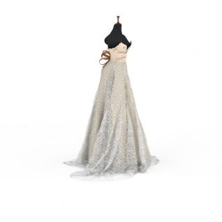 女士婚纱3d模型