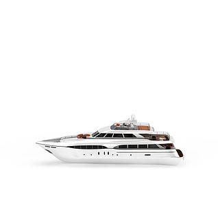豪华游艇3d模型