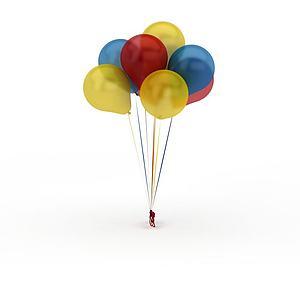 彩色气球模型3d模型
