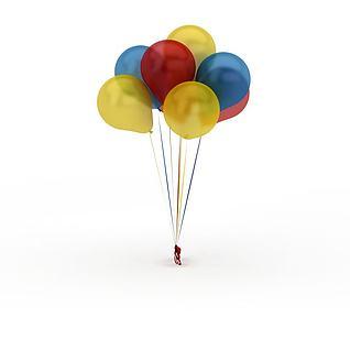彩色气球3d模型