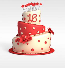 节日<font class='myIsRed'>蛋糕</font>3d模型