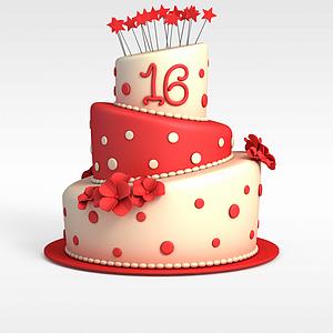 3d節日<font class='myIsRed'>蛋糕</font>模型