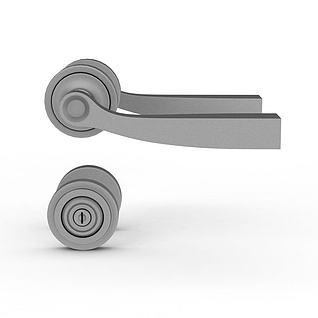 门锁门把手3d模型