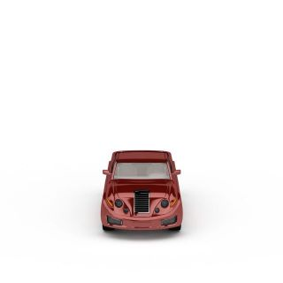红色卡车3d模型