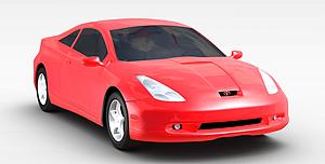 3d紅色<font class='myIsRed'>跑車</font>模型