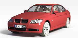 3d宝马轿车模型