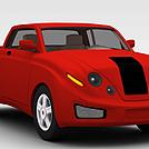 红色卡车模型