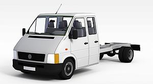 3d無蓋貨車模型