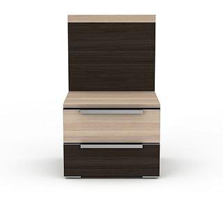 现代床头柜3d模型