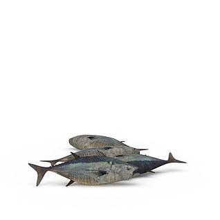 深水鱼3d模型
