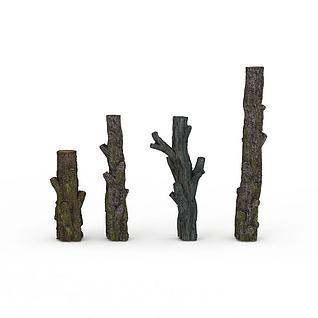 干树枝3d模型