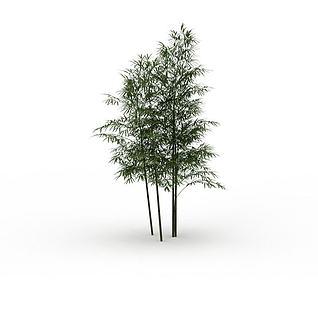 3d公园竹子模型
