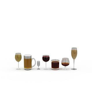 玻璃酒杯3d模型