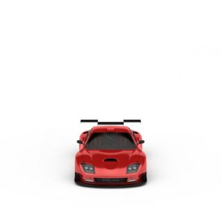 红色炫酷跑车3d模型