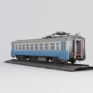 带铁轨火车3d模型