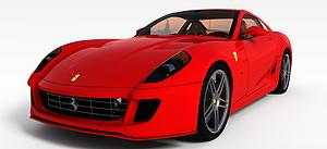 3d紅色烤漆<font class='myIsRed'>跑車</font>模型