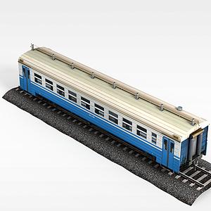 现代载人火车模型