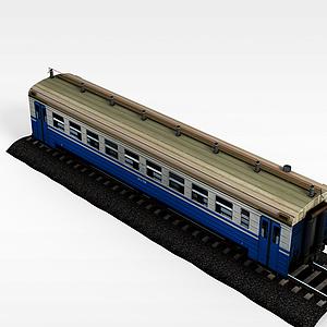 现代火车模型