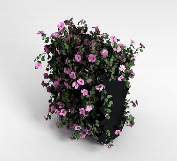 粉色装饰花