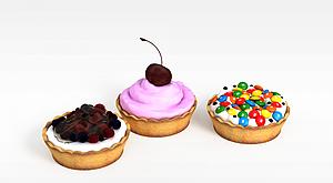 3d糕点模型