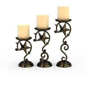 铁艺蜡烛模型