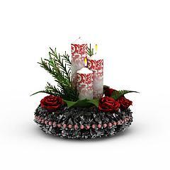 装饰蜡烛模型3d模型