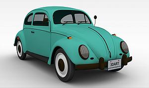 3d老爷车模型