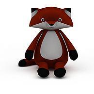 儿童狐狸玩具3D模型3d模型