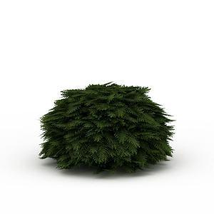 道路綠色植被模型