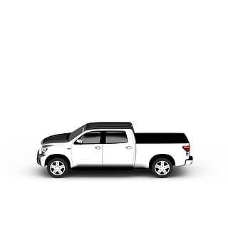 白色卡车3d模型