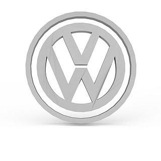 大众汽车标志3d模型