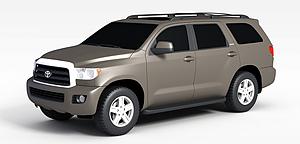 3d棕色豐田汽車模型