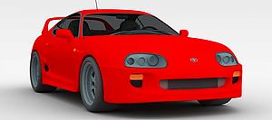 3d紅色時尚<font class='myIsRed'>跑車</font>模型