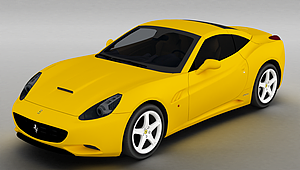 3d黃色法拉利<font class='myIsRed'>跑車</font>模型