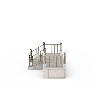 室外楼梯3d模型