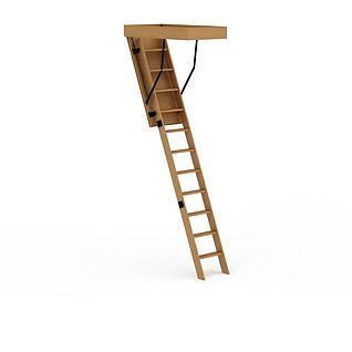木制梯子3d模型