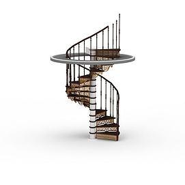 客厅<font class='myIsRed'>旋转楼梯</font>3d模型