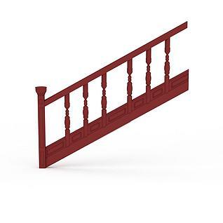 实木楼梯3d模型