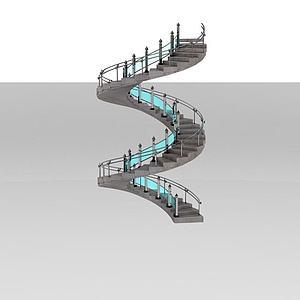 螺旋楼梯模型