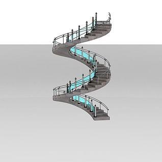 螺旋楼梯3d模型