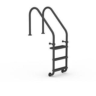泳池扶梯3d模型