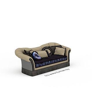 复古美式沙发3d模型3d模型