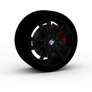 宝马轮胎3d模型