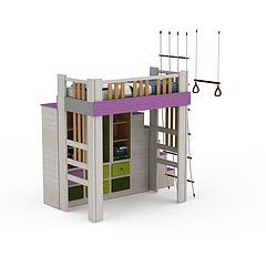 儿童卧室床柜模型3d模型