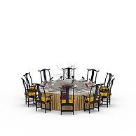 餐厅餐桌椅3D模型3d模型