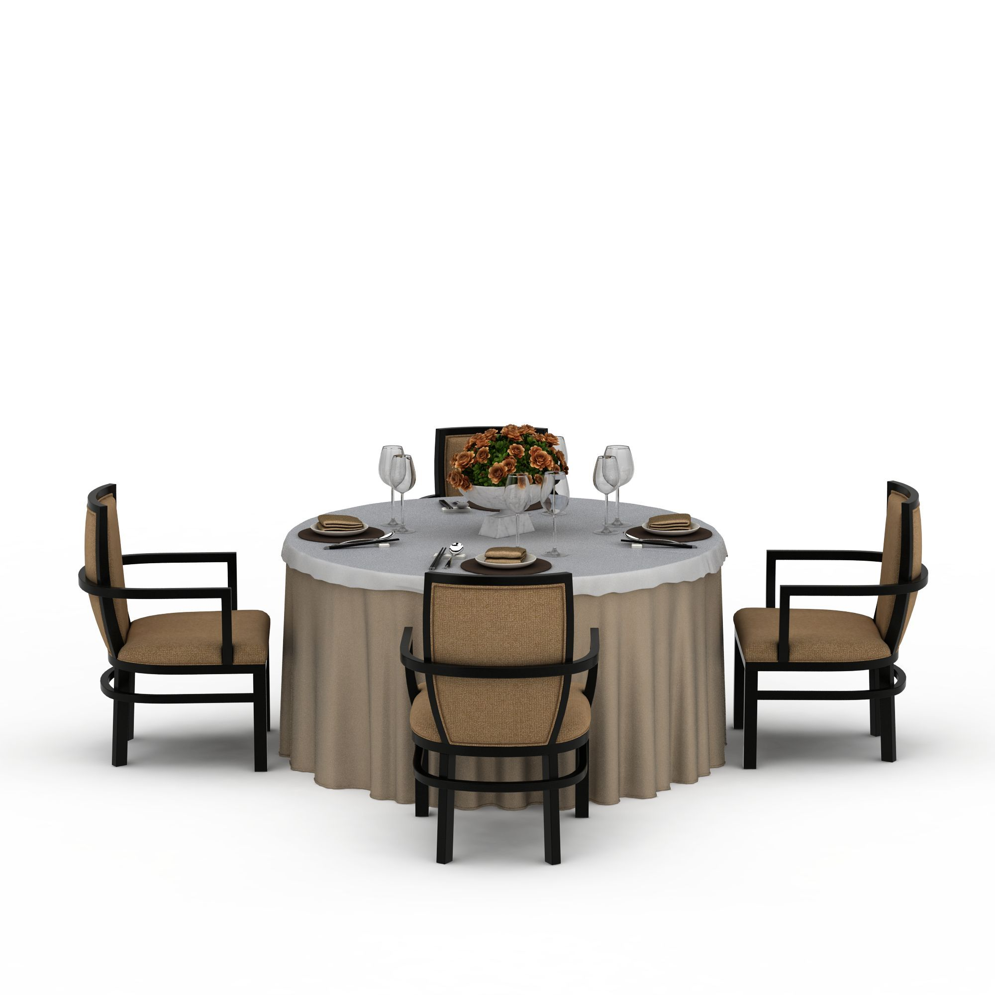 圆形中式餐桌椅图片_圆形中式餐桌椅png图片素材_圆形图片