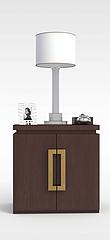 红木床头柜模型3d模型