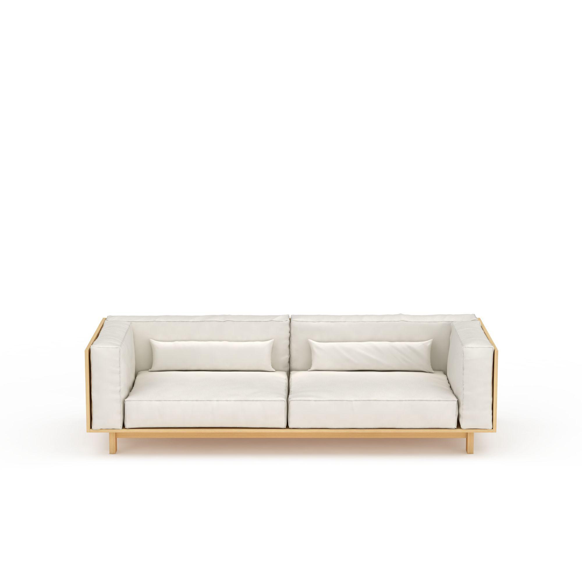 家具组合 沙发 木质双人沙发3d模型 木质双人沙发png高清图